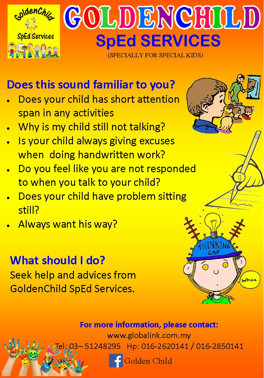 GoldenChild SpEd Services Brochure Front
